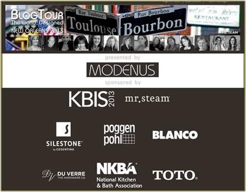 BlogTourNOLA, Modenus, Toma Clark Haines, New Orleans Design, KBIS,