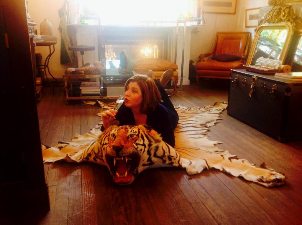 The Antiques Diva, Tiger Rug, Belgian Antiques, Antique Shopping Tours in Beligum,