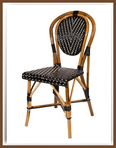 Gentil Bistro Table, French Cafe Chairs, Paris Cafe Chairs, Rattan, Les Deux Magots