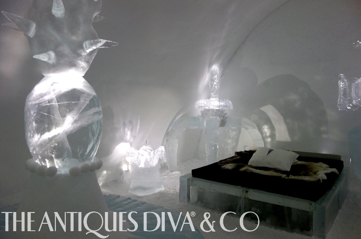 The Antiques Diva, Toma Clark Haines, Year in Review, ICEHOTEL, Arctic Circle Dog Sledding, Reindeer Sledding in the Arctic, Northern Lights, New Years Resolutions