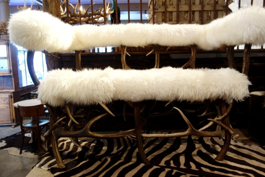 Decorating with Antiques, Cozy Interiors, antique rugs, vintage linens, vintage Champagne buckets, Decorating for Winter
