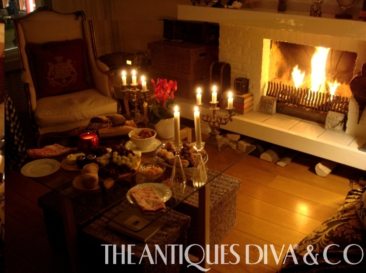 Toma Clark Haines, The Antiques Diva, Holland Apartment, Decorating for Winter