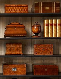 Decorating tips, Recreating English Country Style, Staffordshire Dog, vintage tea caddies, Antiques Diva Buying Tours, Sourcing antiques in Europe, Decorating English Libraries