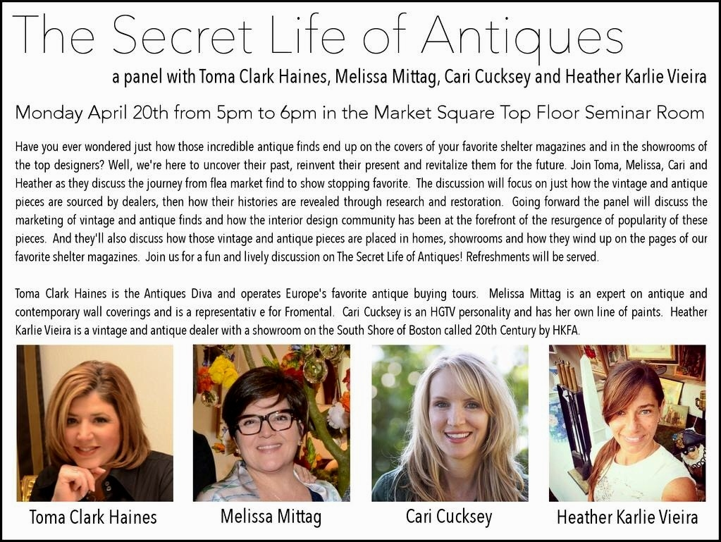 High Point Market, Toma Clark Haines, The Antiques Diva, The Antique & Design Center, The Secret Life of Antiques, Melissa Mittag, Cari Cucksey, Heather Karlie Vieira, Fromental,
