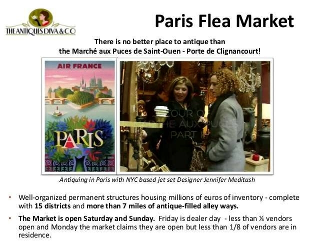 Toma Clark Haines, The Antiques Diva, Paris Flea Market, Jennifer Meditash, Marche aux Puces