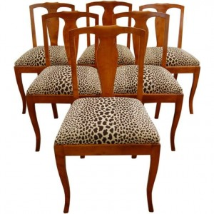Antiques Diva Styles a Diva Den for Chairish Dining chairs leopard