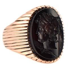 Intaglio Mens Ring