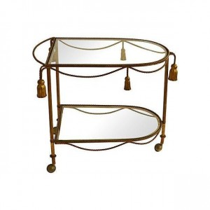 Antiques Diva Styles a Diva Den for Chairish Bar Cart