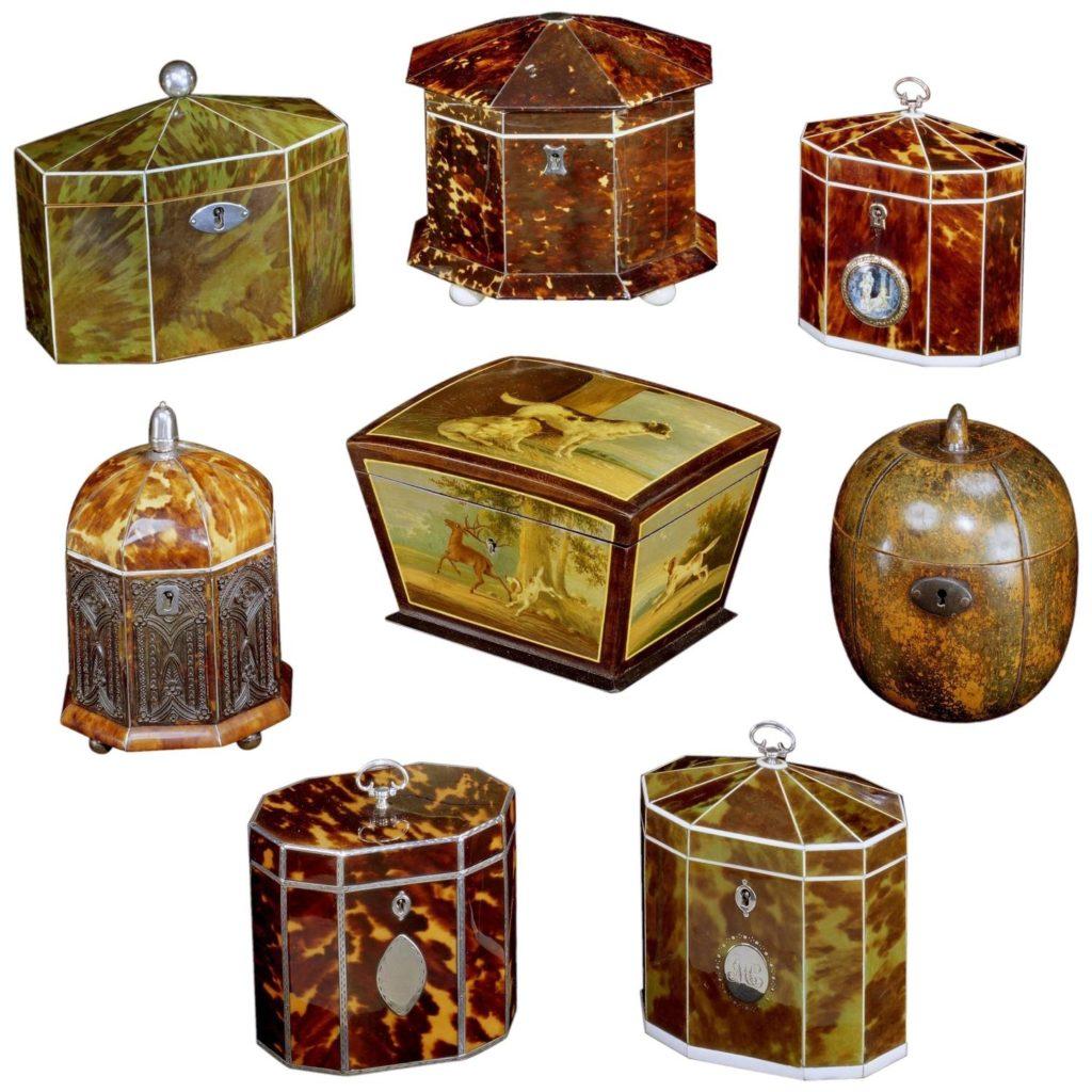 English tea caddies-collection