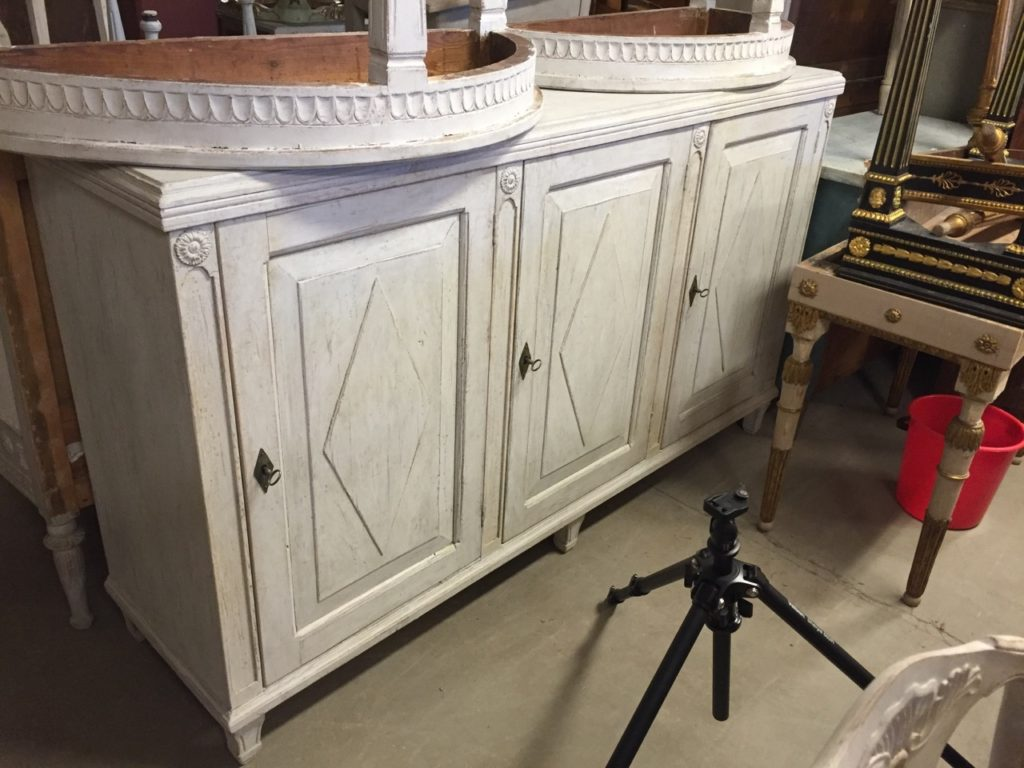 Sweden- Antique Buying Services-Gustavian style buffet