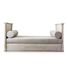 Antique Day Bed-19th C Gustavian Daybed