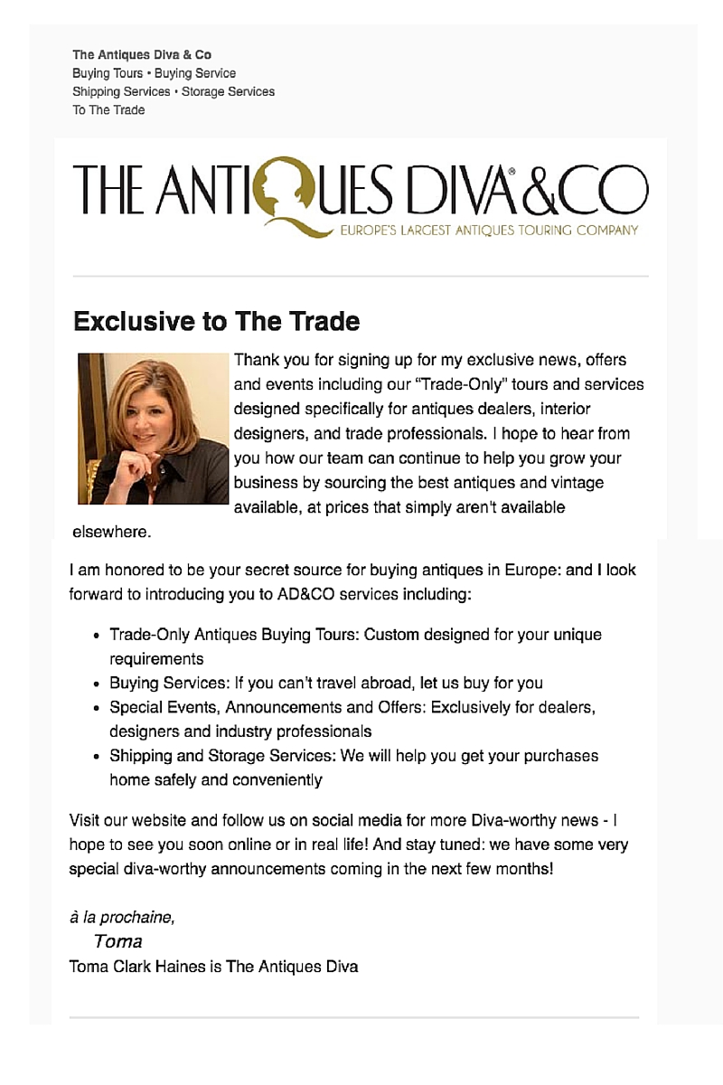 AD&CO To The Trade News Exclusive to the Trade newsletter signup