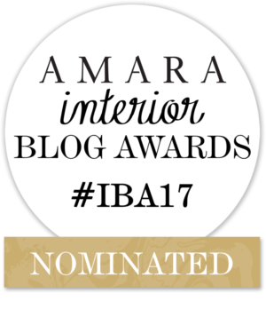 NOMINATED Amara Interior Blog Awards #IBA17
