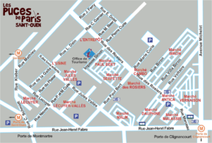 Paris Flea Market map