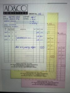 AD&CO Logistics Purchase Orders
