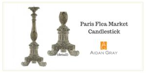 My 1st Time at the Paris Flea Market - Paris Flea Market Candlestick by Aidan Gray