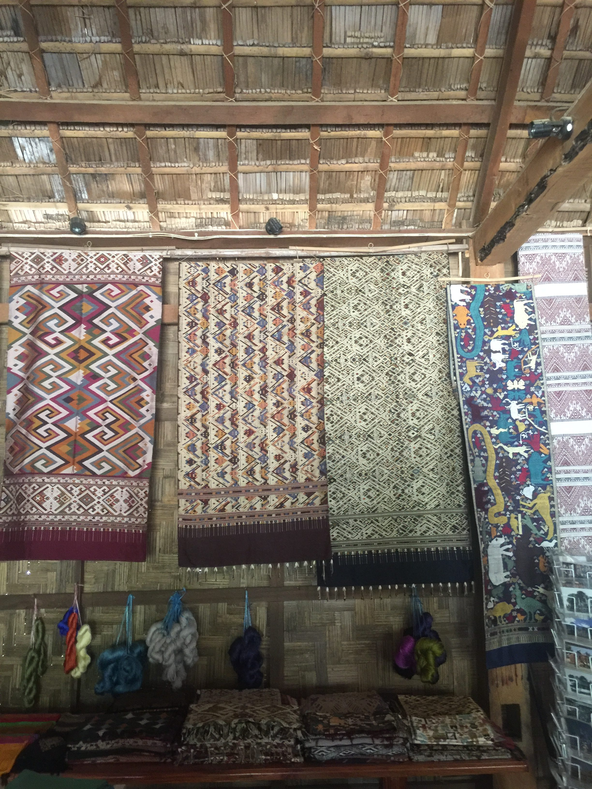 Handwoven Silk and Cotton Textlies Luang Prabang Laos Asia Antiques Buying Tours with The Antiques Diva
