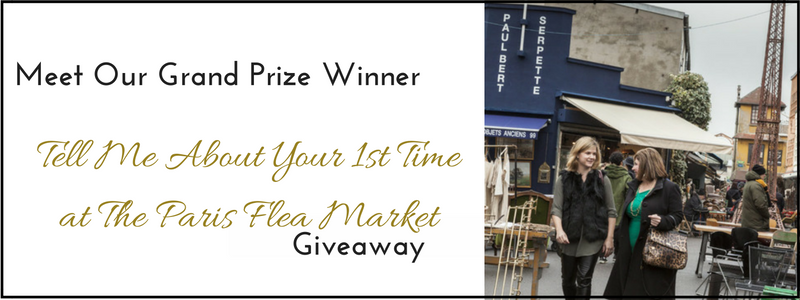 Meet Our Grand Prize Winner of our Paris Flea Market Giveaway