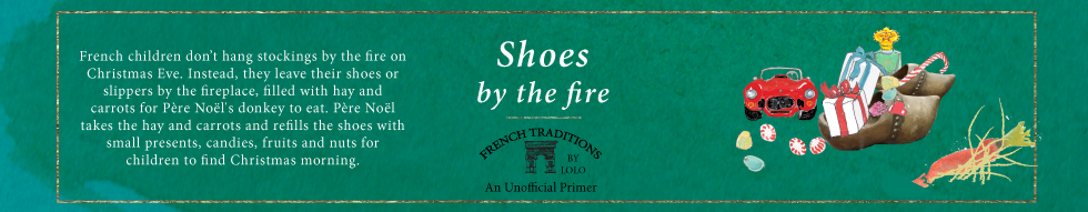 Lolo French Antiques French Christmas Traditions Shoes by the fire