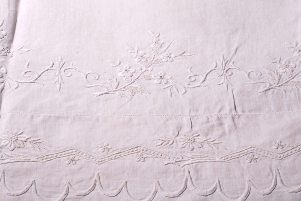 Caring for Antique Linens: Antique Sheet from Pandora de Balthazar