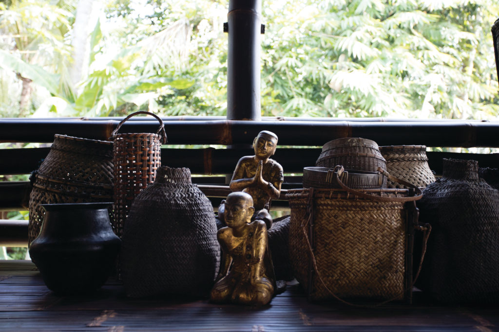 Local artifacts at John Hardy's hotel in Bali photo credit Alessandro Luppi