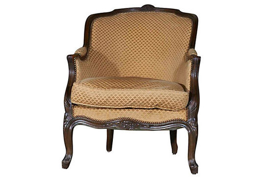 French chairs at Lolo French Antiques: Bergere Corbeille