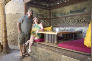 Toma Clark Haines The Antiques Diva & Co in Bali with John Hardy