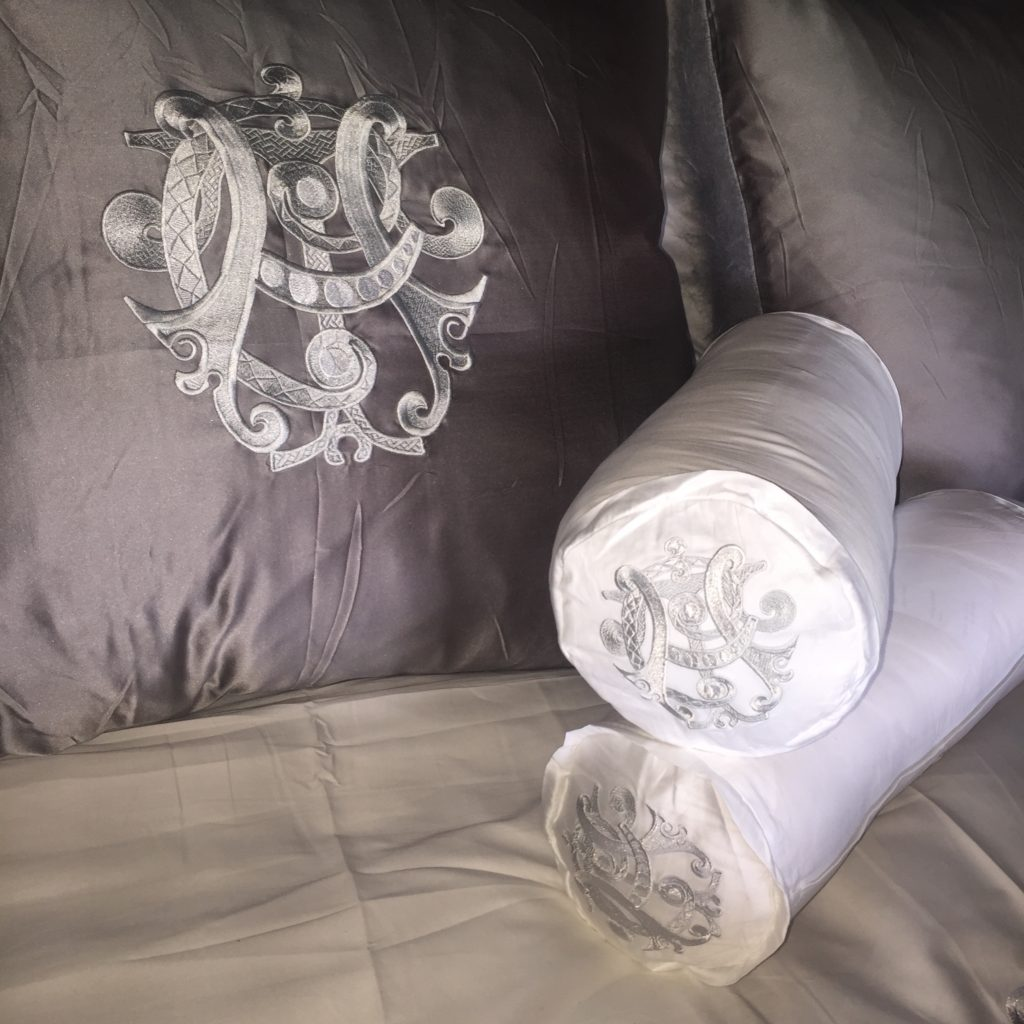 couture pillows by Pandora de Balthazár