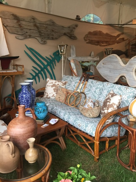Lamont Studio booth at East Hamptons Antiques Show 2017 on Antiques Diva Hamptons Antiques and Design Tour