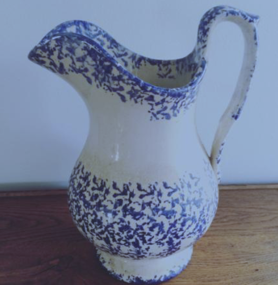 Erna Hiscock & John Shepherd - a C19th English spongeware pitcher