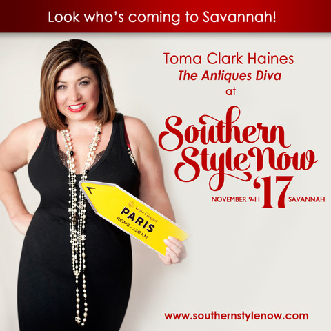 Toma Clark Haines The Antiques Diva at Southern Style Now