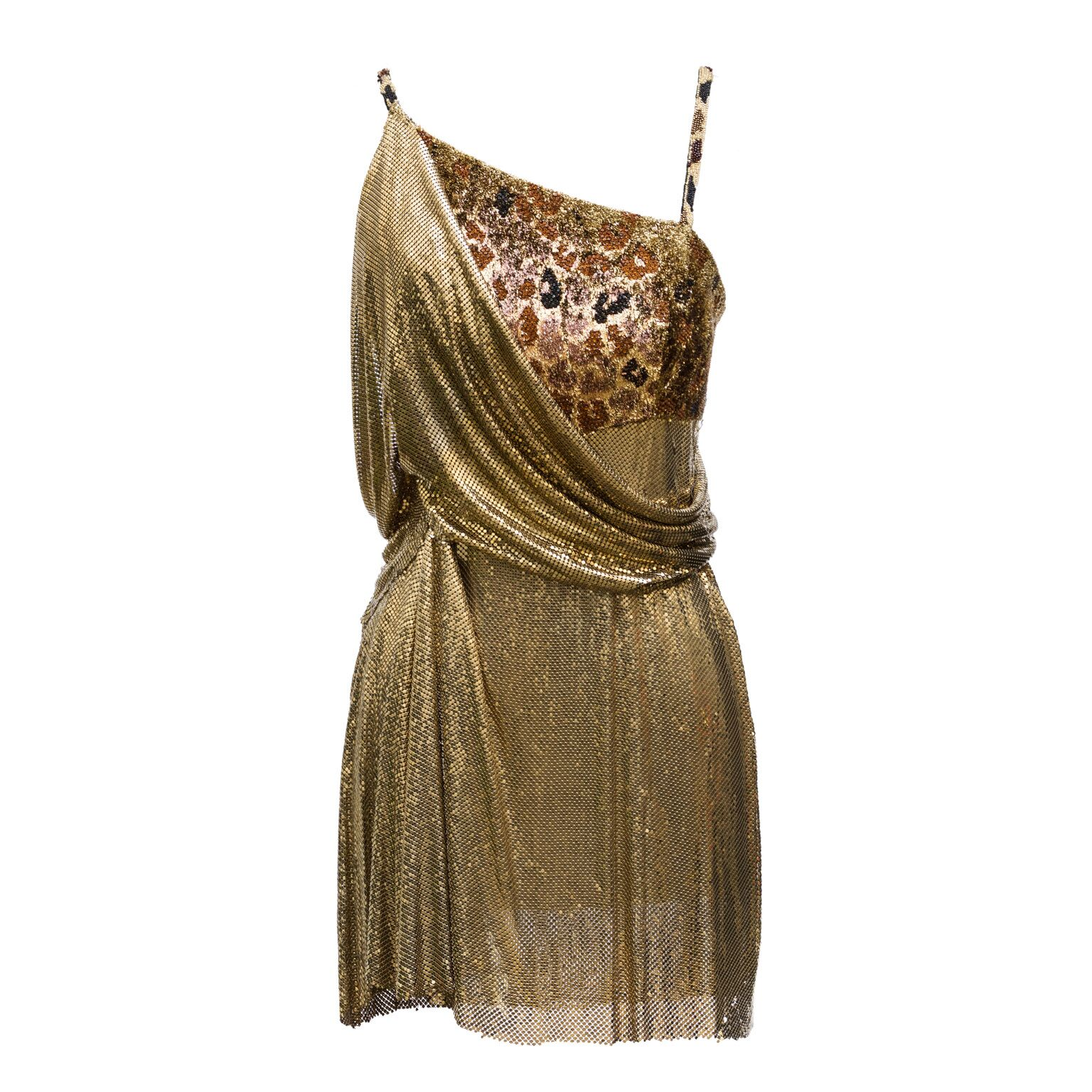 Versace metal couture dress, 90s
