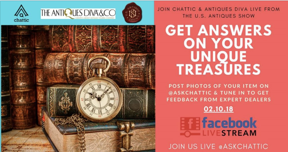 ChatticLIVE & The Antiques Diva at U.S. Antique Show