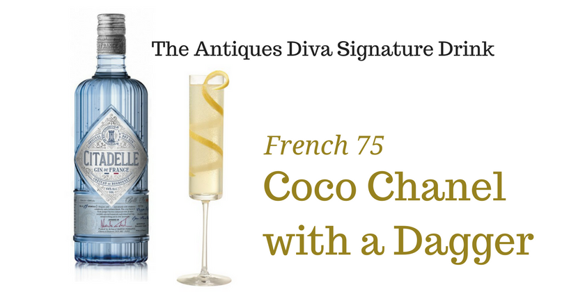 Toma's Signature Cocktail Coco Chanel with a Dagger Made with Citadelle Gin | Toma Clark Haines | The Antiques Diva
