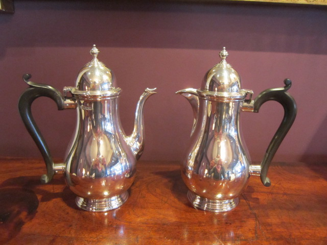 Pair of George V Silver Coffee Pots | Sturman Antiques