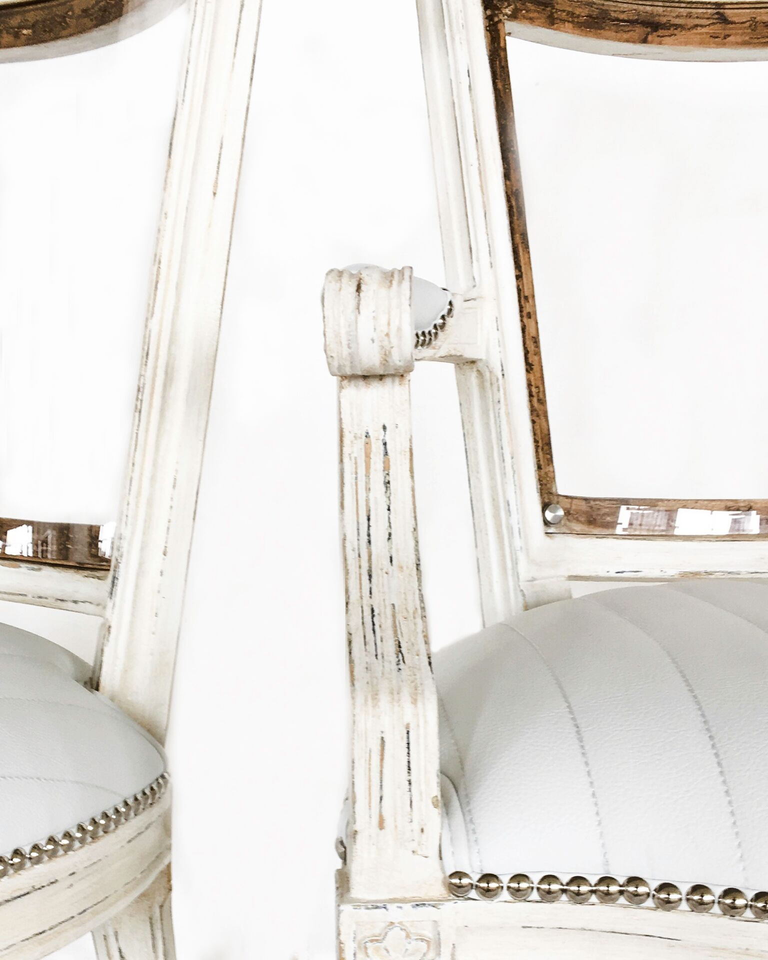 Sneak Peek of our Marie Antoinette Chair with Lucite and Faux Leather