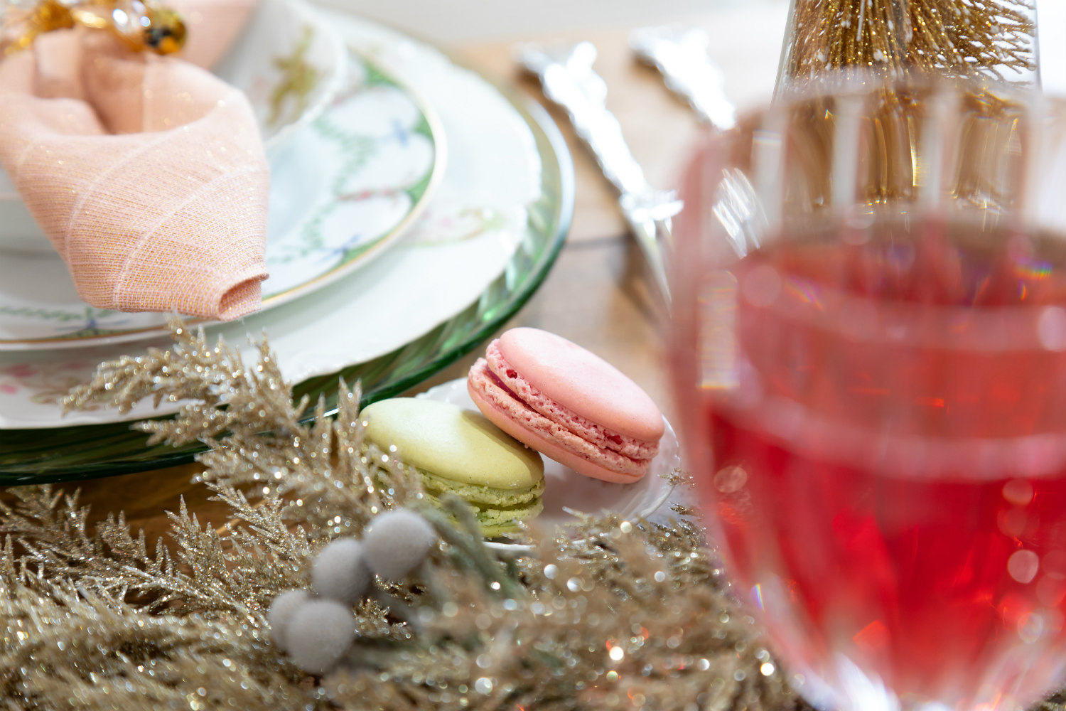 Wonderful Christmastime Ladies Brunch | macarons | The Antiques Diva & Co