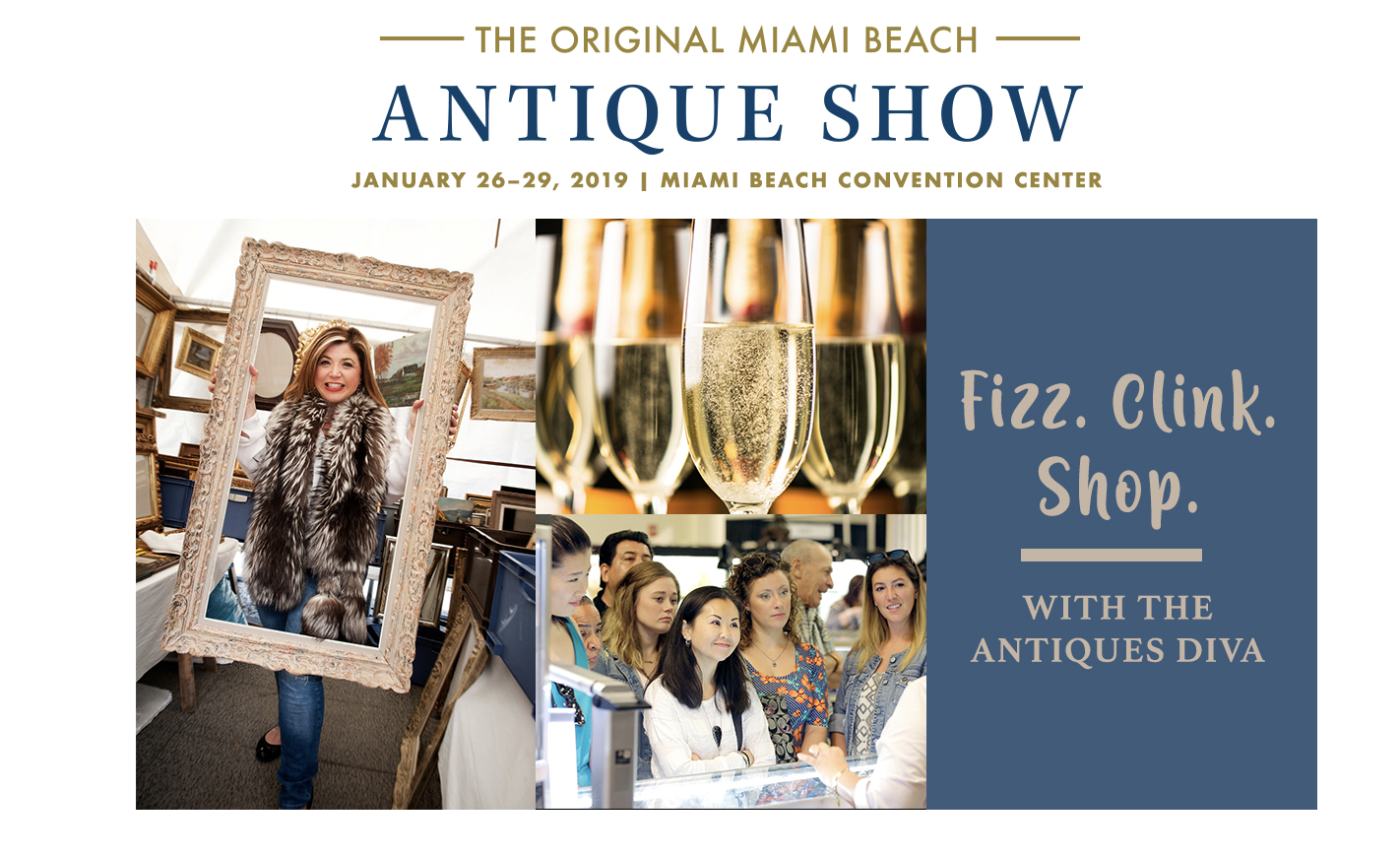 Toma Clark Haines at The Miami Beach Antiques Show
