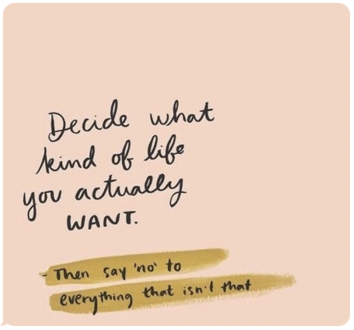 Decide what you want and remove everything from your life that does not pursue that goal.