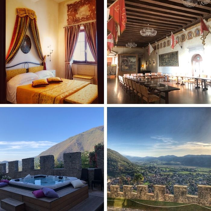 spa birthday getaway at Castle Brando in Northern Italy